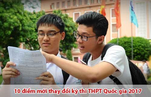 10 điểm thay đổi kỳ thi THPT Quốc gia