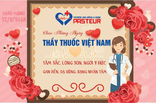 Trường Cao đẳng Y Dược Pasteur chúc mừng ngày Thầy thuốc Việt Nam