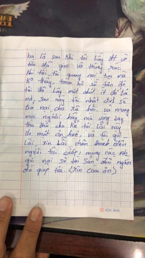 Nguyên văn bức tâm thư đẫm nước mắt của tên cướp đặc biệt nhất năm 2018