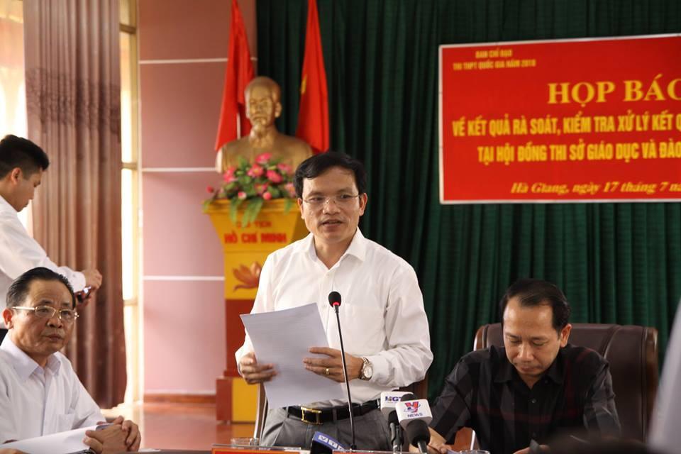 Bộ Giáo dục hủy toàn bộ điểm bài thi trắc nghiệm của thí sinh Hà Giang