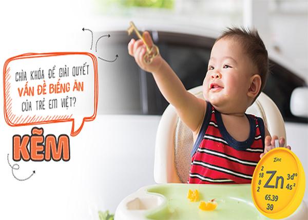 Kẽm chính là lựa chọn dành cho những trẻ biếng ăn