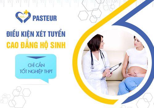 Trường Cao đẳng Y Dược Pasteur tuyển sinh Cao đẳng Hộ sinh với điều kiện xét tuyển đơn giản