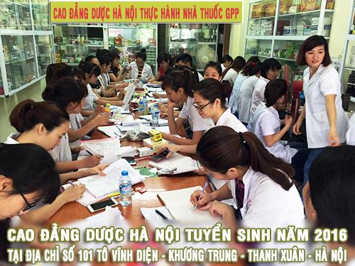Cao đẳng Dược Hà Nội thực hành nhà thuốc GPP
