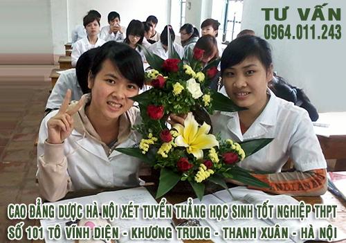 Cao đẳng Dược Hà Nội xét tuyển thẳng thí sinh tốt nghiệp THPT