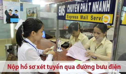 Hồ sơ xét tuyển qua đường bưu điện
