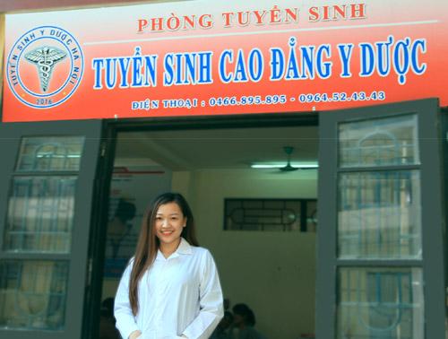 Hoàng Thị Thu Uyên sinh viên năm 2 Cao đẳng Dược Hà Nội