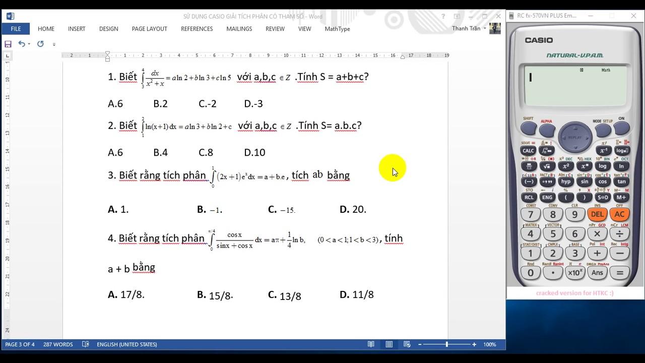 """Giải toán nguyên tích phân trong """"tích tắc"""" nhờ sử dụng máy tính Casio"""