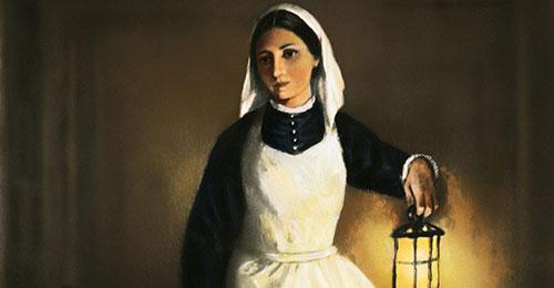 hình ảnh của bà luôn gắn liền với cây đèn cầy