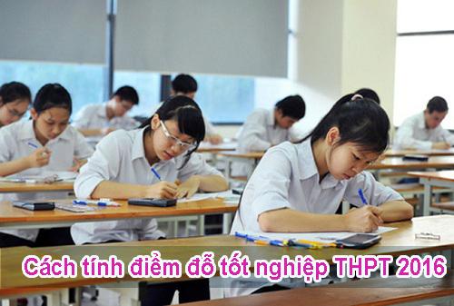 Cách tính điểm đỗ tốt nghiệp THPT năm 2016 như thế nào?