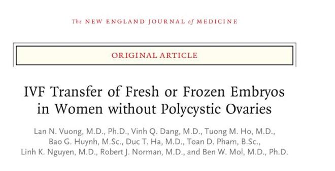 Công trình nghiên cứu của bác sĩ Lan và cộng sự được đăng trên tạp chí quốc tế uy tín