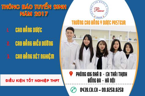 Trường Cao đẳng Y Dược Pasteur tuyển sinh chỉ cần tốt nghiệp THPT