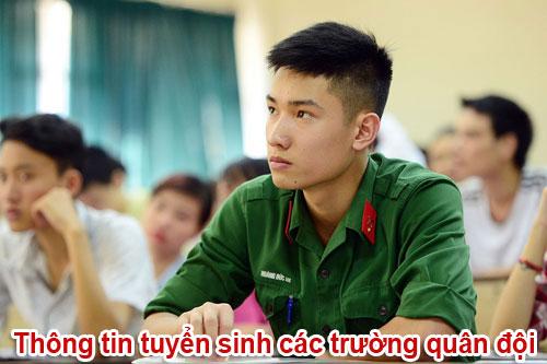 Điểm chuẩn các trường Khối Quân đội như thế nào?