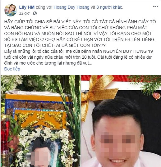 Người nhà bệnh nhân tử vong vì viêm tụy cấp tố bác sĩ tắc trách xin lỗi BV Chợ Rẫy