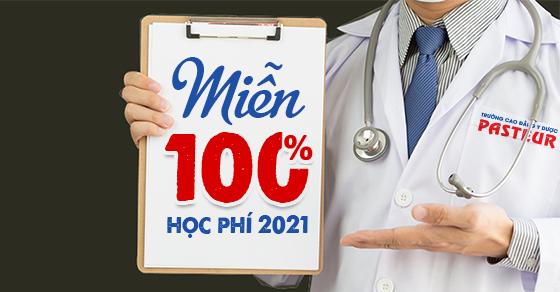 Miễn 100% học phí Cao đẳng Dược năm 2021 cho con em cán bộ ngành Y tế
