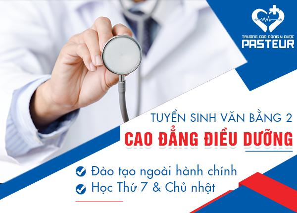 Trường Cao đẳng Y Dược Pasteur tuyển sinh VB2 Cao đẳng Điều dưỡng