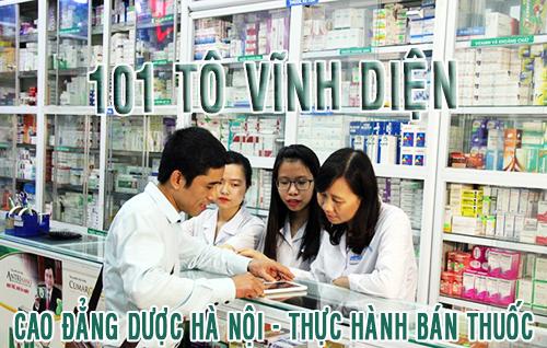 Cao đẳng Dược Hà Nội - thực hành bán thuốc