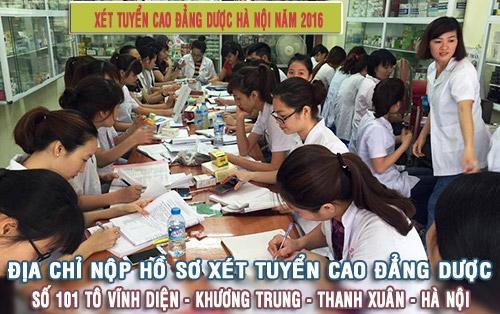 Địa chỉ nộp hồ sơ xét tuyển Cao đẳng Dược Hà Nội.