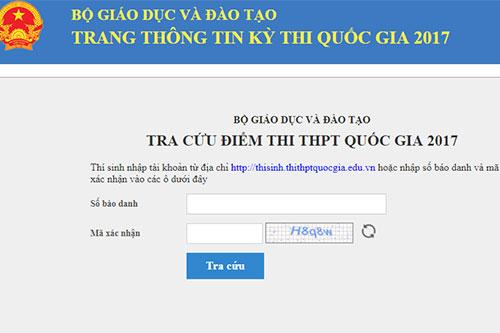 Cách tra cứu điểm thi THPT Quốc gia 2018 trên trang http://diemthi.thituyensinh.vn