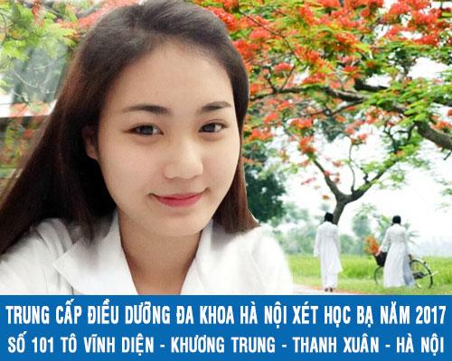 Trung cấp Điều dưỡng Hà Nội xét tuyển học bạ năm 2017