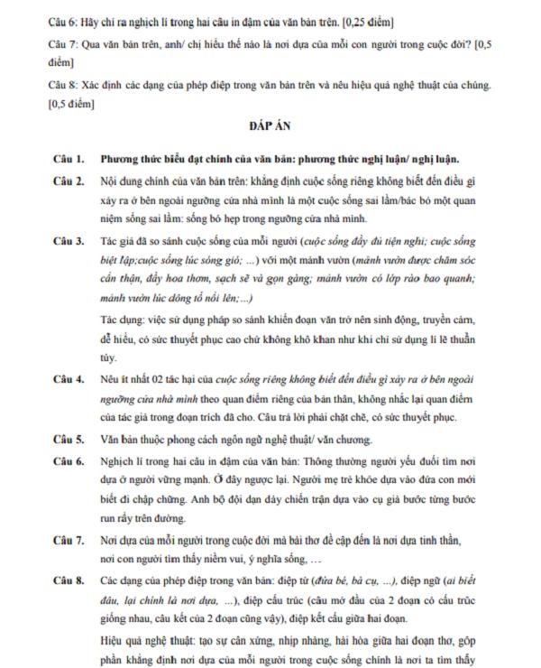 Tuyển tập Bộ 110 đề đọc hiểu ôn thi THPT Quốc gia môn Ngữ văn có đáp án - 3